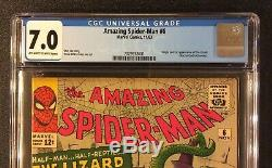 AMAZING SPIDER-MAN #6 Comic CGC 7.0 Marvel 1963 Silver Age 1ST APPEARANCE LIZARD