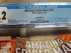 AMAZING SPIDER-MAN #678A CGC9.2 Mary Jane Venom Quinones SUPER RARE (NO RESERVE)