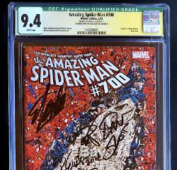 AMAZING SPIDER-MAN #700 6X SIGNED STAN LEE CGC 9.4 SS Death of Peter Parker