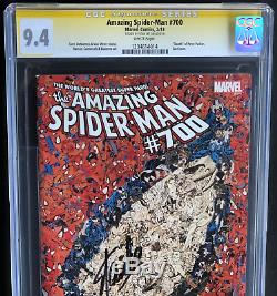AMAZING SPIDER-MAN #700 SIGNED STAN LEE CGC SS 9.4 Death of Peter Parker