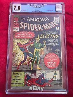 AMAZING SPIDER-MAN #9 // 1st App ELECTRO // CGC 7.0 HOMECOMING MARVEL