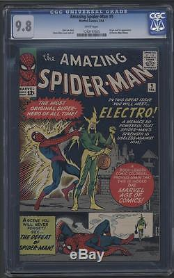 AMAZING SPIDER-MAN #9 CGC 9.8 NM/M 1st ELECTRO WHITE PAGES
