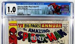 AMAZING SPIDER-MAN ANNUAL #1 CGC 1.0 1st Sinister Six Marvel Comics 1964