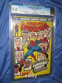 AMAZING SPIDERMAN #121 CGC 9.0 (Death of Gwen Stacy 1975) John Romita Sr Art