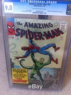 Amazing Spiderman (1963) Issue 20 Vf/nm Cgc 9.0 1st App Scorpion