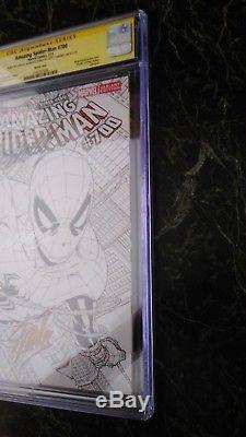 AMAZING SPIDERMAN 700 SKETCH CGC 9.8 SS STAN LEE X 3 QUESADA VARIANT death peter