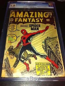 Amazing Fantasy 15 1962 1st Spider-Man CGC 1.0
