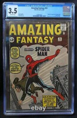 Amazing Fantasy #15 (1962), CGC 3.5 (VG), 1st Appearance of Spider-Man