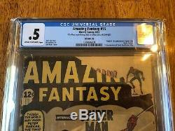 Amazing Fantasy #15 (1962) Cgc. 5 1/2 Last Page Missing Does Not Affect Story