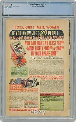 Amazing Fantasy #15 CGC 0.5 1962 0333233001 1st app. Spider-Man