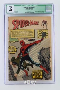 Amazing Fantasy #15 CGC 0.5 Marvel 1962 1st App & ORIGIN of Spider-Man