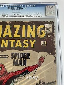 Amazing Fantasy #15 CGC 0.5 OW 1st Spider-Man 1962 Marvel BEST Presenting Copy