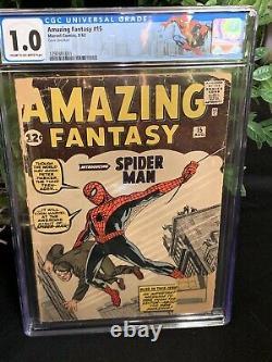 Amazing Fantasy 15 CGC 1.0 (1st Appearance Spider-man) 1292481001