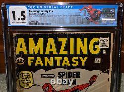 Amazing Fantasy #15 CGC 1.5 Origin! 1st Spider-man! Movie! C12 L9 212 cm