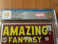 Amazing Fantasy 15 CGC 10.0 Gem! Silver Foil. 999 ounces. Low Print Run! Rare