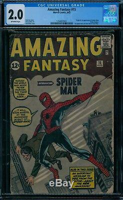 Amazing Fantasy 15 CGC 2.0 1st Spider-Man