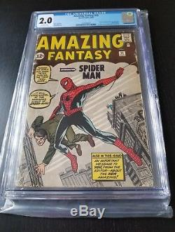 Amazing Fantasy 15 CGC 2.0 1st appearance of Spider-Man