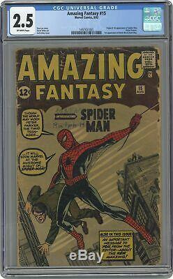 Amazing Fantasy #15 CGC 2.5 1962 1497651001 1st app. Spider-Man