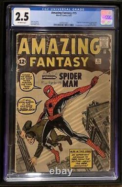 Amazing Fantasy 15 CGC 2.5 (1st Appearance Spider-man) 1497651001