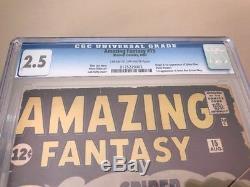 Amazing Fantasy #15 CGC 2.5 1st Spider-Man! Silver Age Grail