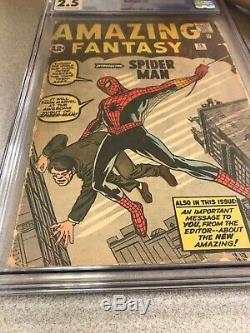 Amazing Fantasy #15 CGC 2.5 Marvel 1962 1st Spider-Man