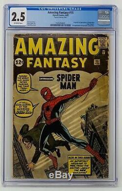 Amazing Fantasy #15 CGC 2.5 Marvel 1962. Origin & 1st App. Of Spider-Man
