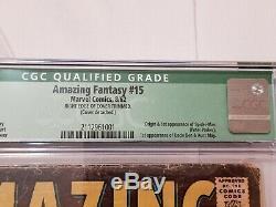 Amazing Fantasy #15 CGC 2.5 (green label) Apparent