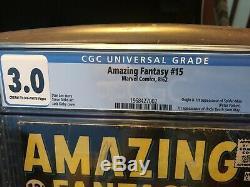 Amazing Fantasy #15 CGC 3.0 GD/VG Universal CGC