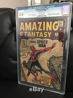 Amazing Fantasy #15 CGC 3.0 (blue label no restoration)