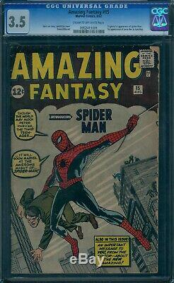 Amazing Fantasy 15 CGC 3.5 1st Spider-Man