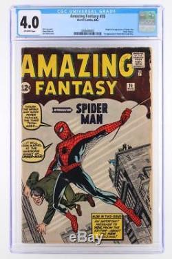 Amazing Fantasy #15 CGC 4.0 VG -Marvel 1962- 1st App & ORIGIN of Spider-Man