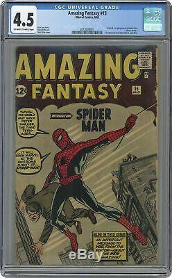 Amazing Fantasy #15 CGC 4.5 1962 2013638001 1st app. Spider-Man