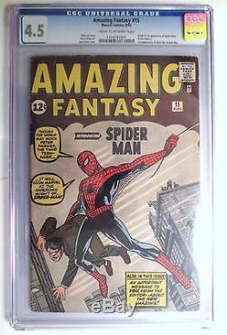 Amazing Fantasy #15 CGC 4.5 1st Spider-Man Unrestored