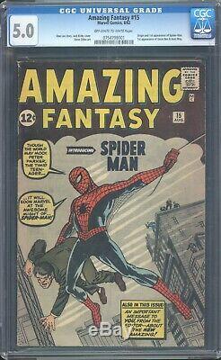 Amazing Fantasy 15 CGC 5.0 1st Spider-man Silver Age Marvel Key IGKC L@@K