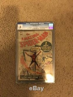 Amazing Fantasy #15 CGC. 5 1st Spider-Man & Spider-Man #1 CGC. 5