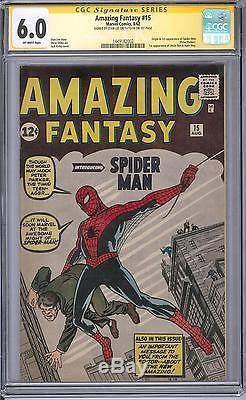 Amazing Fantasy #15 CGC 6.0 Stan Lee Sig Series (OW-W) 1st app of Spider-Man