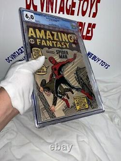 Amazing Fantasy #15 CGC 6.0 Unrestored Marvel 1st Spider-Man RARE -WHITE PAGES-
