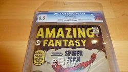 Amazing Fantasy 15 CGC 6.5 1st appearance of Spider-man (1962, Marvel Comics)