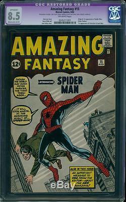Amazing Fantasy 15 CGC 8.5 OW (R) Silver Age Key Marvel Comic 1st Spidey L@@K