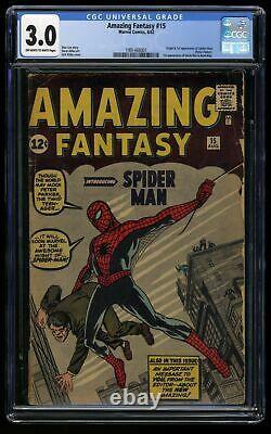 Amazing Fantasy #15 CGC GD/VG 3.0 Off White to White 1st Spider-Man