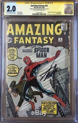 Amazing Fantasy 15 CGC Stan Lee/Tom Holland SS 1st Spider-man