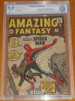 Amazing Fantasy #15 Cbcs Not Cgc (3.0) G/vg 1st App Spiderman Off White Pgs Sa