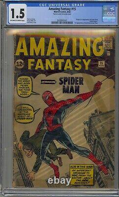 Amazing Fantasy #15 Cgc 1.5 1st Appearance Spider-man