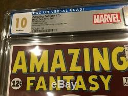 Amazing Fantasy #15 Cgc 10/10.0 Silver Foil First Releases Gem Mint (spider-man)
