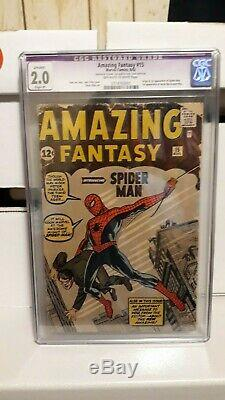 Amazing Fantasy 15 Cgc 2.0 1st Appearance Of Spider Man, Nice Solid Copy