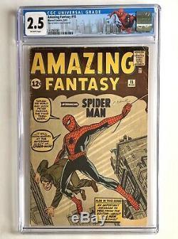 Amazing Fantasy 15 Cgc 2.5 1st Spiderman Holy Grail Press Worthy