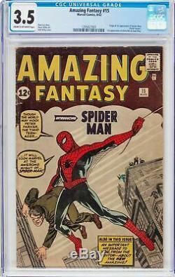 Amazing Fantasy #15 Cgc 3.5 Origin & 1st Appearance Of Spider-man #1295027001