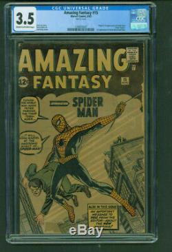 Amazing Fantasy #15 Cgc 3.5 Origin & 1st Appearance Of Spider-man 1962 Marvel