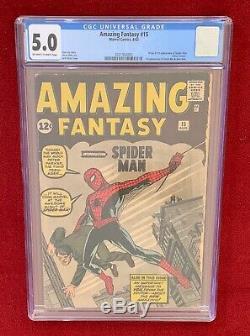 Amazing Fantasy 15 Cgc 5.0 Ow-white Pages Origin & 1st App Spiderman 2021992003