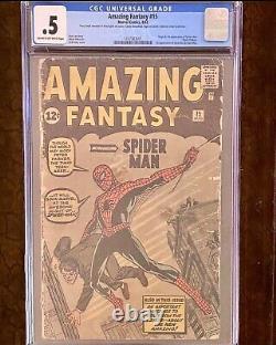 Amazing Fantasy #15 Cgc. 5 1st Appearance Spider-man